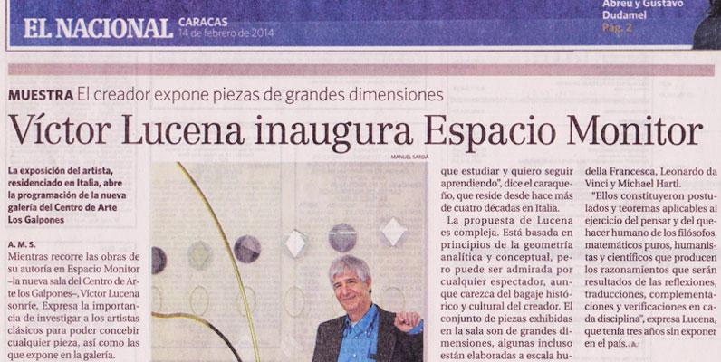 Víctor Lucena inaugura Espacio Monitor