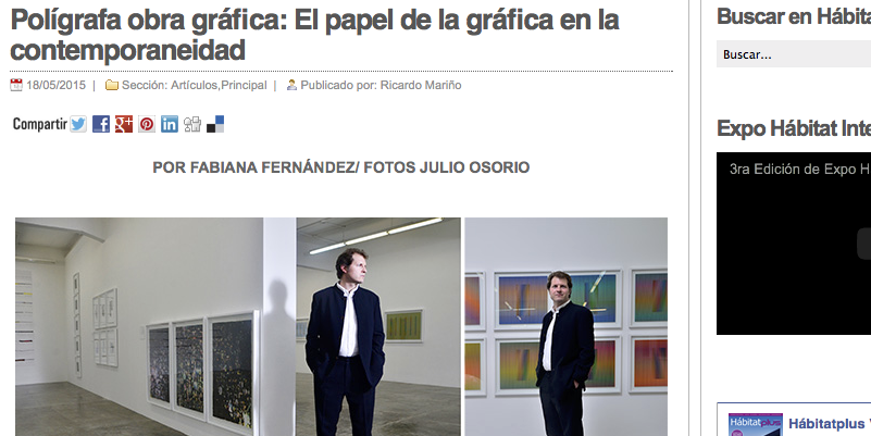 El papel de la gráfica en la contemporaneidad, por Fabiana Fernández