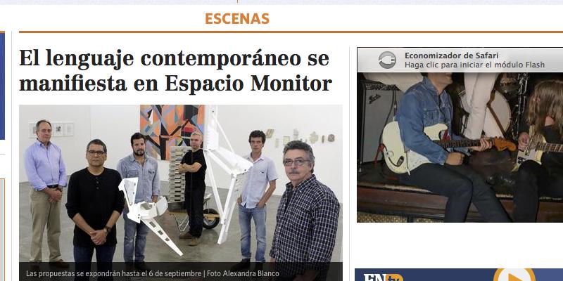El lenguaje contemporáneo se manifiesta en Espacio Monitor, por Sergio Moreno González
