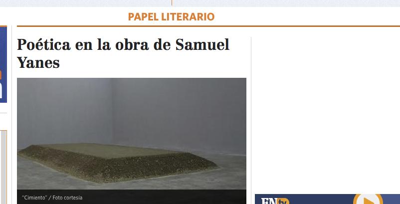 Poética en la obra de Samuel Yanes, por Vilena Figueira