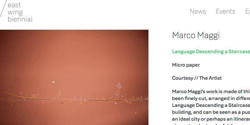 Marco Maggi en the East Wing Biennial, Londres 2016