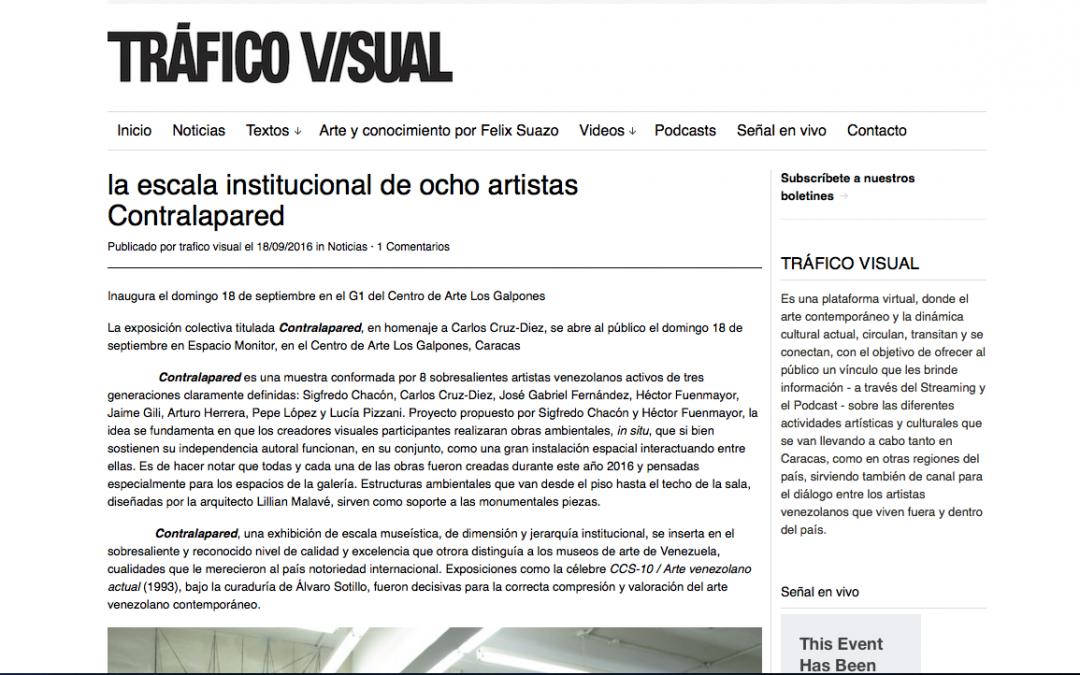 La escala institucional de ocho artistas Contralapared