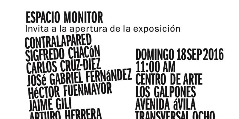 """Apertura de la exposición """"Contralapared"""" en Espacio Monitor"""
