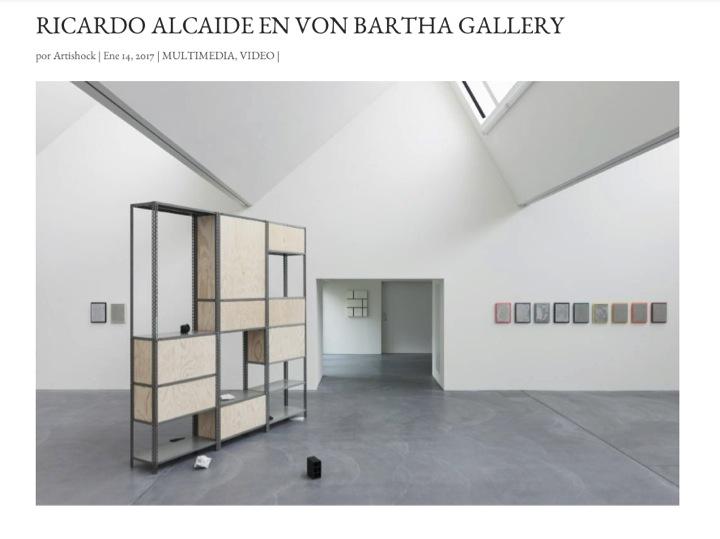 Ricardo Alcaide en Von Bartha Gallery, Basilea