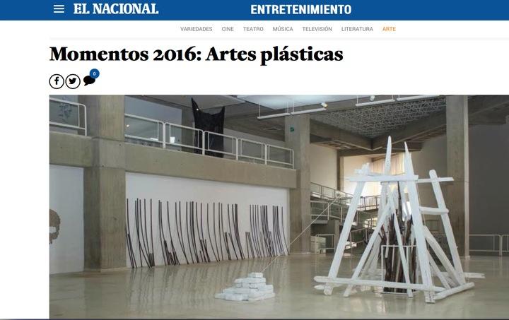 Momentos 2016: Artes plásticas